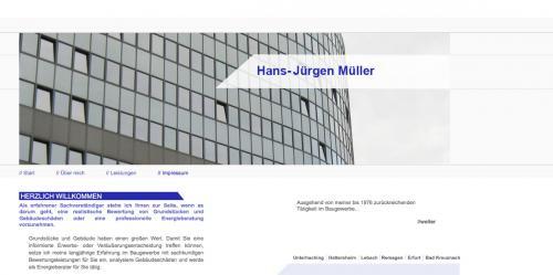 Firmenprofil von: Hans-Jürgen Müller: Sachverständiger für Immobilien in Frankfurt