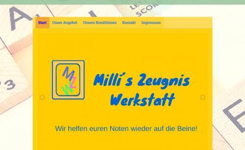 Firmenprofil von: Millis - Zeugnis - Werkstatt – Einzelnachhilfe zu Hause