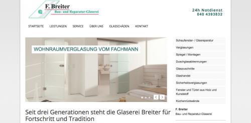 Firmenprofil von: Glaserei in Hamburg: Bau- und Reparatur- Glaserei F. Breiter