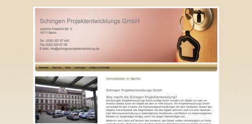 Firmenprofil von: Schingen Projektentwicklungs GmbH in Berlin