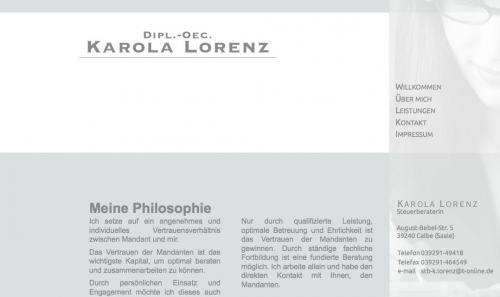 Firmenprofil von: Steuerberaterin in Calbe: Dipl.-Oec. Karola Lorenz