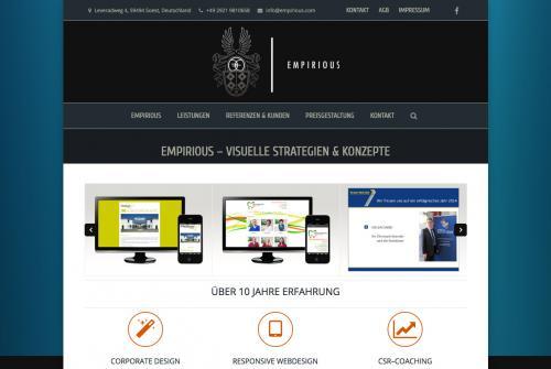 Firmenprofil von: Ansprechendes Web-Design und Image nach Wunsch: EMPIRIOUS.com – Visuelle Strategien & Konzepte in Soest