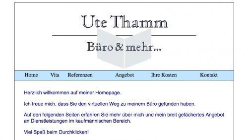 Firmenprofil von: Büroservice Ute Thamm, Büro & mehr in Wesel