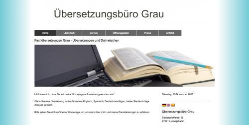 Firmenprofil von: Übersetzungsbüro Grau in Ludwigshafen