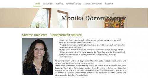 Firmenprofil von: Stimme trainieren – Persönlichkeit stärken: Stimmtraining und Coaching bei Monika Dörrenbächer in München