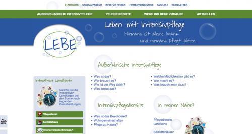 Firmenprofil von: Intensivpflegeportal mit intelligenter Suchunktion und redaktionellem Content