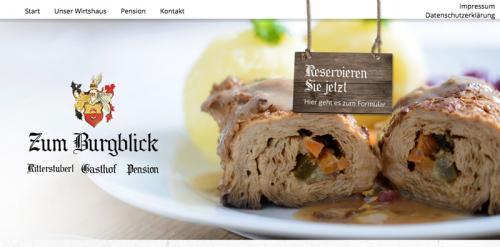 Firmenprofil von: Gasthof Zum Burgblick in Burglengenfeld: Gasthof mit Tradition an der Naab