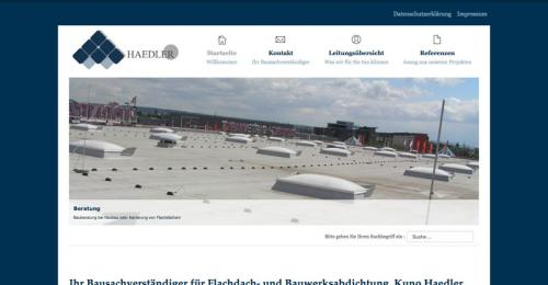 Firmenprofil von: Bausachverständiger für Flachdach- und Bauwerksabdichtung Haedler in Leipzig