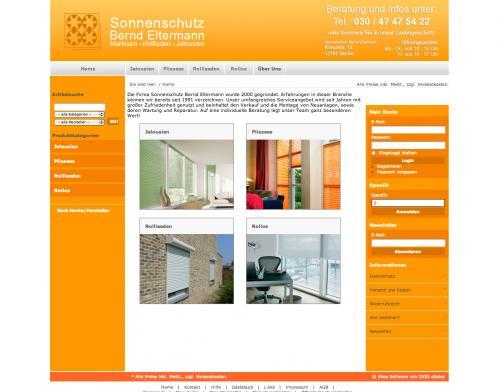 Firmenprofil von: Sonnenschutz Bernd Eltermann in Berlin