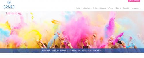 Firmenprofil von: Hochwertige Druckveredelung bei Siebdruck Romer in Konstanz