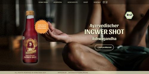 Firmenprofil von: Im Einklang mit Körper und Geist – Ingwer Shot Soma Rasa