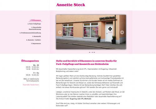 Firmenprofil von: Fußpflege Lädle Annette Steck in Giengen an der Brenz