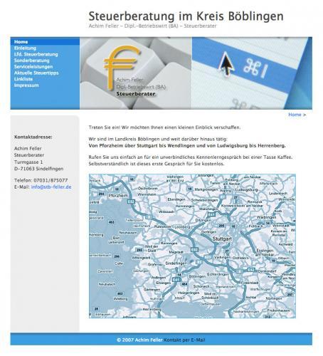 Firmenprofil von: Steuerberater Achim Feller in Sindelfingen