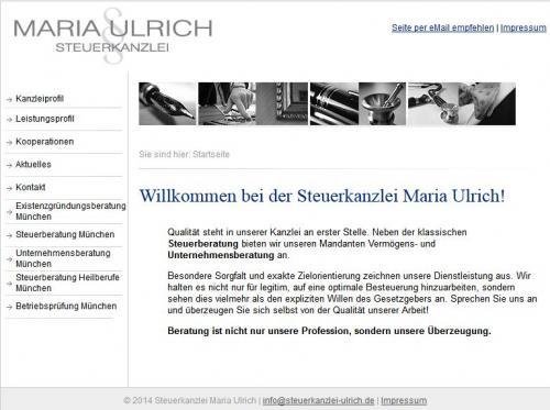 Firmenprofil von: Steuerkanzlei Maria Ulrich in München