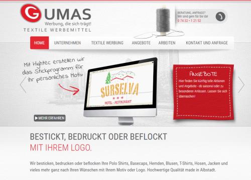 Firmenprofil von: Stickerei Gumas in Albstadt-Tailfingen