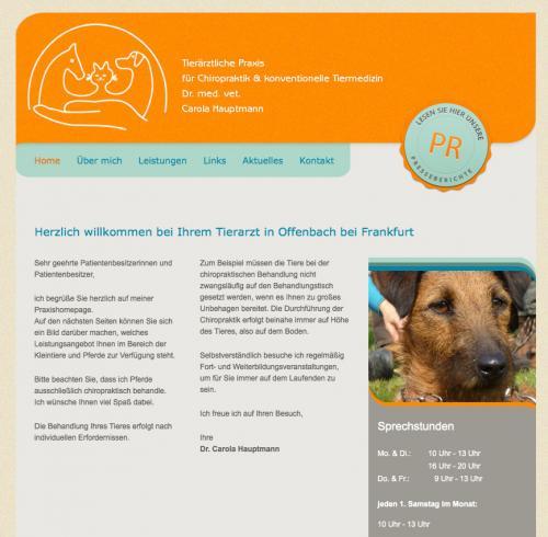 Firmenprofil von: Tierarztpraxis für Chiropraktik und konventionelle Tiermedizin Dr. med. vet. Carola Hauptmann in Offenbach