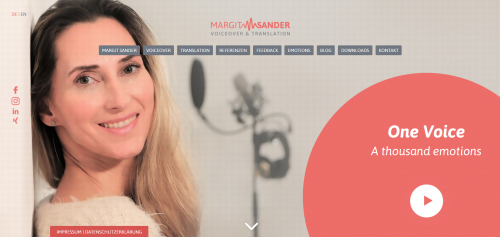 Firmenprofil von: Voiceover und Übersetzungen von Margit Sander – weil Sprache Emotion ist