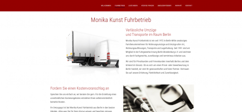 Firmenprofil von: Ihr Partner für einen reibungslosen Umzug in Berlin: Monika Kunst UMZÜGE & TRANSPORTE