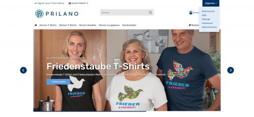 Firmenprofil von: Hochwertige Damen und Herren T-Shirts mit Druck: Prilano Shirtshop