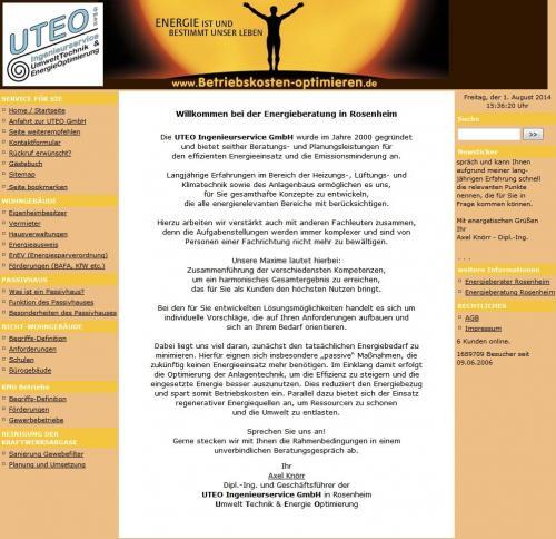 Firmenprofil von: UTEO Ingenieurservice GmbH in Rosenheim: Betriebskostenoptimierung