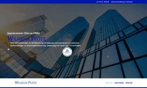Firmenprofil von: Immobilienwirt (Dipl. VWA) Wilhelm Plötz: Immobilienbewertung in Kelkheim