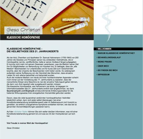 Firmenprofil von: Praxis für klassische Homöopathie Gesa Christian in Kiel