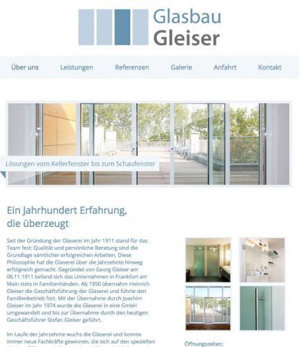 Firmenprofil von: Ganzglas-Anlagen in Frankfurt/Main – Glasbau Gleiser GmbH