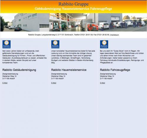 Firmenprofil von: Hausmeister- und Gebäudeservice Rabbito in Schönaich