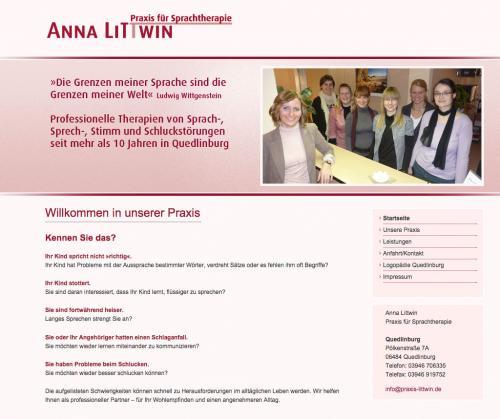 Firmenprofil von: Logopädie in Quedlinburg: Praxis für Sprachtherapie Littwin