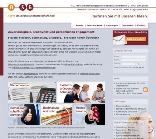 Firmenprofil von: Steuerberatung in Schweinfurt: ASG Aktiva Steuerberatungsgesellschaft mbH