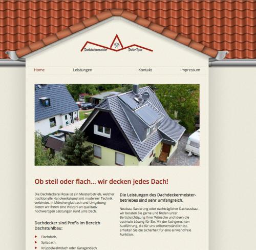 Firmenprofil von: Dachdeckerei Dieter Rose in Mönchengladbach