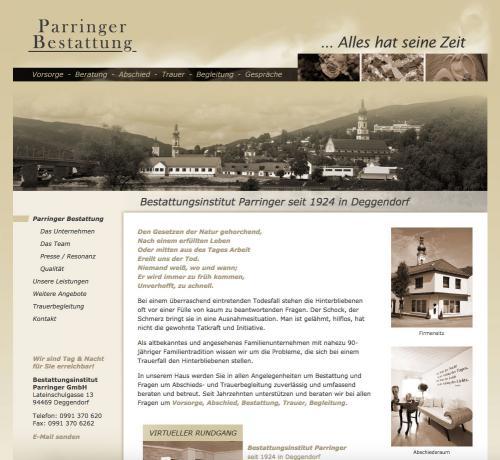Firmenprofil von: Bestattungsinstut Parringer GmbH in Deggendorf