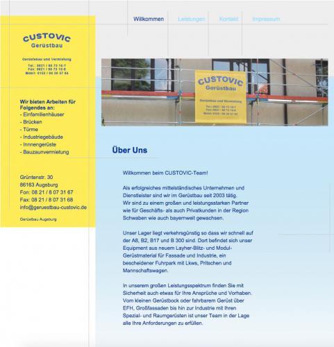 Firmenprofil von: Gerüstbau Custovic in Augsburg