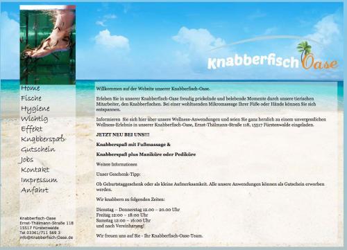 Firmenprofil von: Knabberfisch Oase in Fürstenwalde