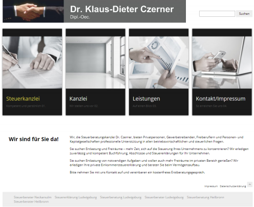 Firmenprofil von: Dr. Klaus-Dieter Czerner – die serviceorientierte Steuerberatung in Heilbronn