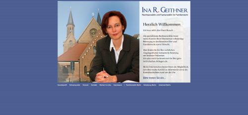 Firmenprofil von: Rechtsanwältin und Fachanwältin für Familienrecht in Berlin: Ina R. Geithner