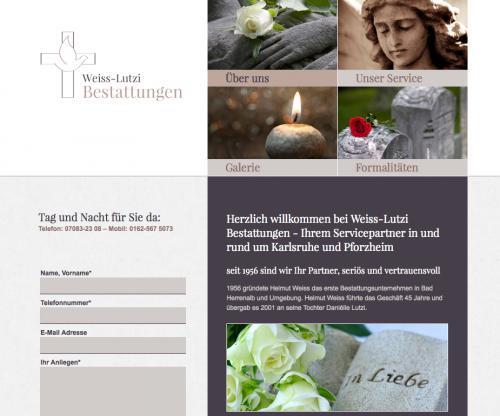 Firmenprofil von: Bestattungen Weiss-Lutzi in Bad Herrenalb