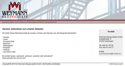 Firmenprofil von: Weymann Bauprodukte GmbH in Twistringen