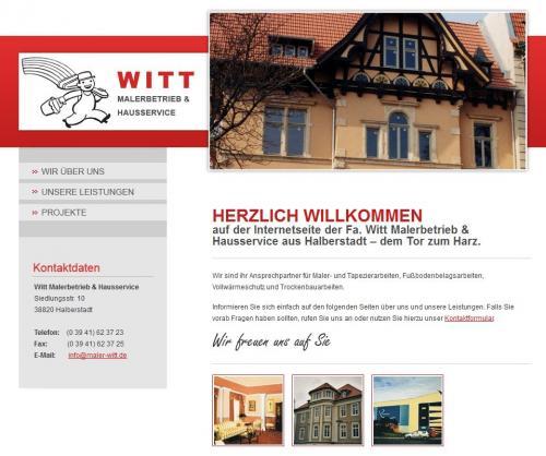 Firmenprofil von: Witt Malerbetrieb und Hausservice in Halberstadt