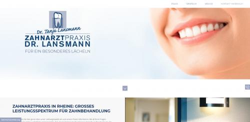 Firmenprofil von: Der Zahnarzt Ihres Vertrauens in Rheine: Dr. med. dent. Tanja Lansmann