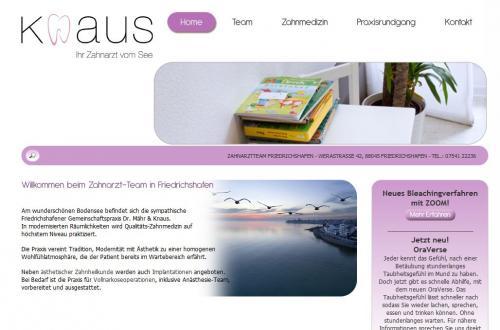Firmenprofil von: Zahnarztpraxis Dr. Mähr &. Nadine Knaus in Friedrichshafen