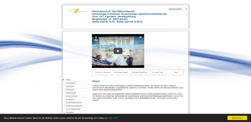 Firmenprofil von: Schöne Zähne mit Zahnarztpraxis Dr. Ghannam in Bremen