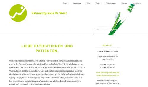 Firmenprofil von: Zahnarztpraxis Dr. West in Leipzig