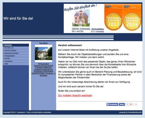 Firmenprofil von: Gerdi Zwingel Immobilien in Nürnberg