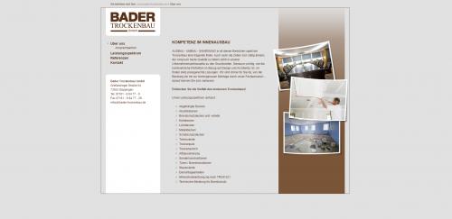 Firmenprofil von: Akustikdecken vom Profi aus Göppingen: Bader Trockenbau GmbH