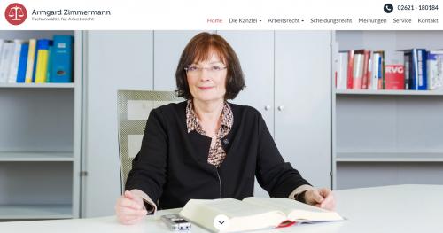 Firmenprofil von: Die Schwerbehinderung und der Arbeitsvertrag – Fachanwältin Zimmermann für Arbeitsrecht in Koblenz