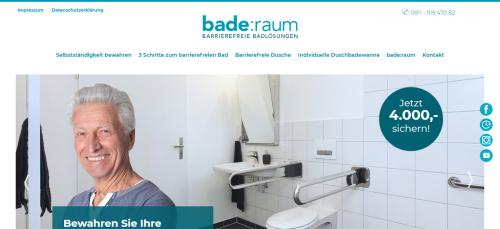 Firmenprofil von: Von der Badewanne zur barrierefreien Dusche - Umbau mit bade:raum in Bayern