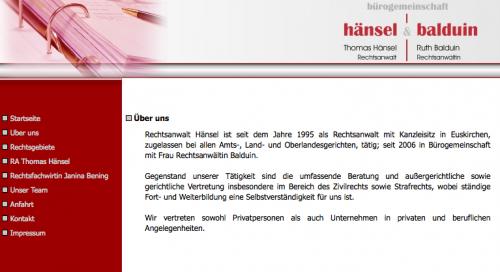 Firmenprofil von: Rechtsanwälte in Euskirchen: Bürogemeinschaft Hänsel und Balduin