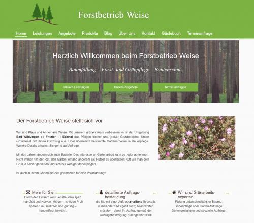 Firmenprofil von: Professionelle Rasenpflege in Wellen – Forstbetrieb Weise in Edertal