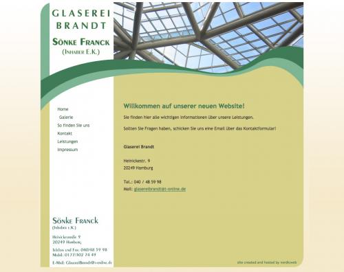 Firmenprofil von: Glaserei Brandt in Hamburg